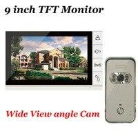 ホームセキュリティ9インチtftモニタービデオドア電話インターホンナイトビジョン屋外700tvl広角カメラで在庫