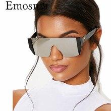 Emosnia Square Sunglasses Women Vintage Street Avant-garde S