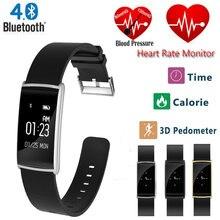 Новинка 2017 года Smart Band N108 OLED Экран IP67 Водонепроницаемый сердечного ритма Мониторы Приборы для измерения артериального давления Смарт Браслет вызова/SMS напоминание для IOS