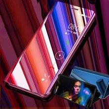 Capa de espelho de celular inteligente, capa de deslizar inteligente para oppo f11 r9 r17 r15 pro r11s r11 r9s plus a7 a3 a5 a3s capa traseira a83 a71 f9 f7 f5
