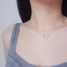 Hot Circle Pendants Necklace Silver Gold For Women Dainty Forever Statement Fashion Choker Jewelry