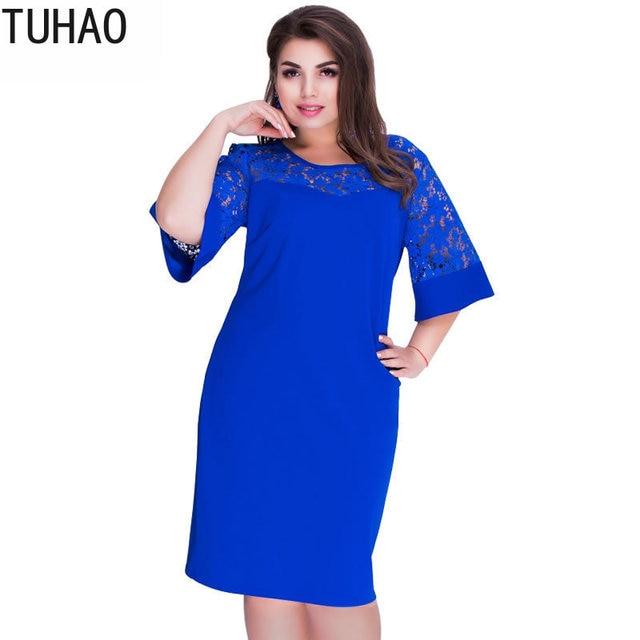 1f2c9744d47b Consultar precio Talla grande 6XL 5XL 4XL vestido de encaje suelto ...