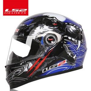 Image 4 - מקורי LS2 FF358 מלא פנים moto rcycle קסדת ls2 moto צלב מירוץ גבר אישה casco moto קסדה LS2 ECE מאושר אין משאבת