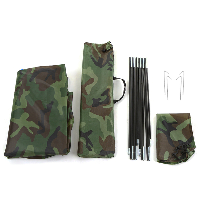 Camouflage Ultralight Camping Tent ice fishing Tent Camping Tent for 2 Person Single Layer Outdoor Portable Beach Tent 6