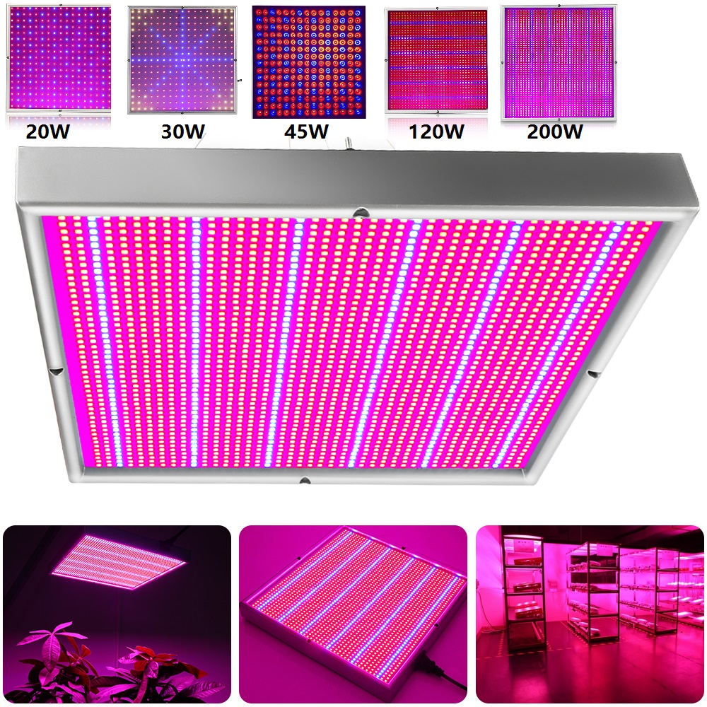 20W 30W 45W 120W 200W Led Grow Panel Panel Light Plant Phytolamp LED Vækstlampe til blomsterplanteplanter vokser telt indendørs planter