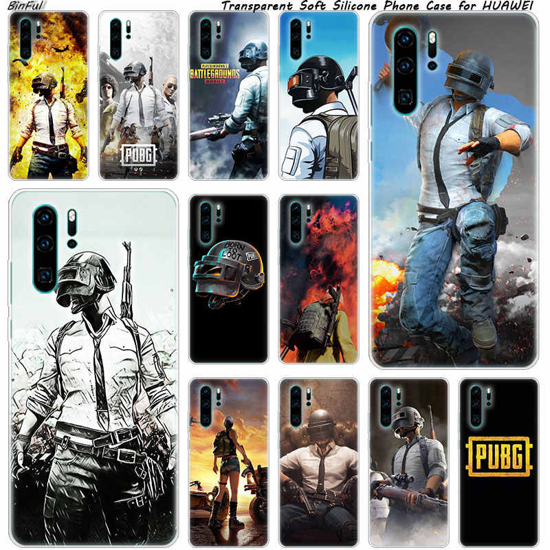 Hot pubg game Soft Silicone Phone Case for Huawei P30 P20 Pro P10 P9 P8 Lite 2017 P Smart Z Plus 2019 NOVA 3 3i Fashion Cover