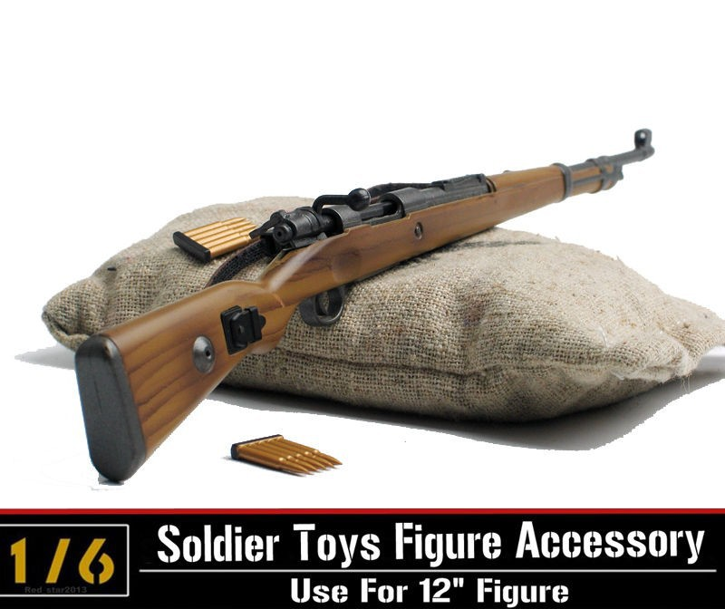 1/6 Scale WWII German Karabiner Kar 98k CARBINE Rifle Gun Models with Bullets For 12 Action Figures Accessories 2017 new 1 6 1 6 12 action figures g43 sinper rifle tactical gun christmas gift free shipping boy toy birthday present