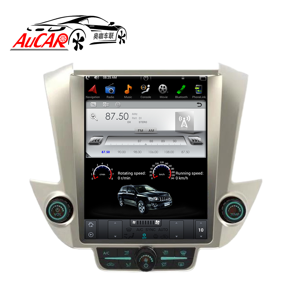 AuCAR Tesla Style 12.1 Android 6.0 dvd de voiture pour GMC Yukon Chevrolet Tahoe Suburban 2015-Radio navigation gps Vertical IPS AUX