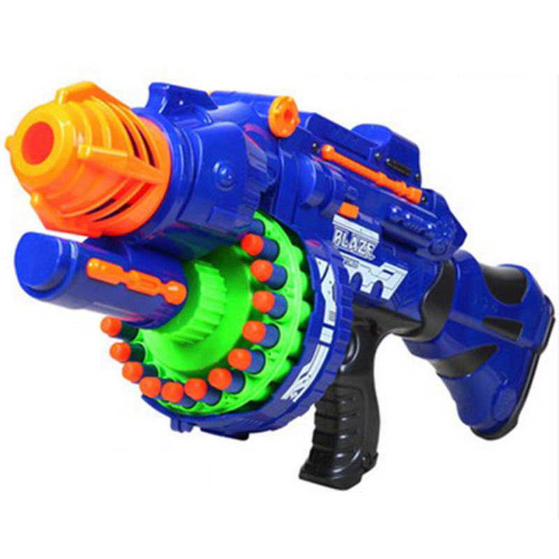 ФОТО Electric Toy Gun Toy Guns 20 pcs Soft Bullet Big Gun Launchers CS Outdoor Toys Kids Children's Birthday Gift