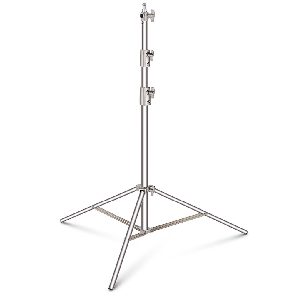 Neewer Stainless Steel Light Stand 114 inches/290 cm Heavy Duty for Studio Softbox, Monolight and Other Photographic Equipment