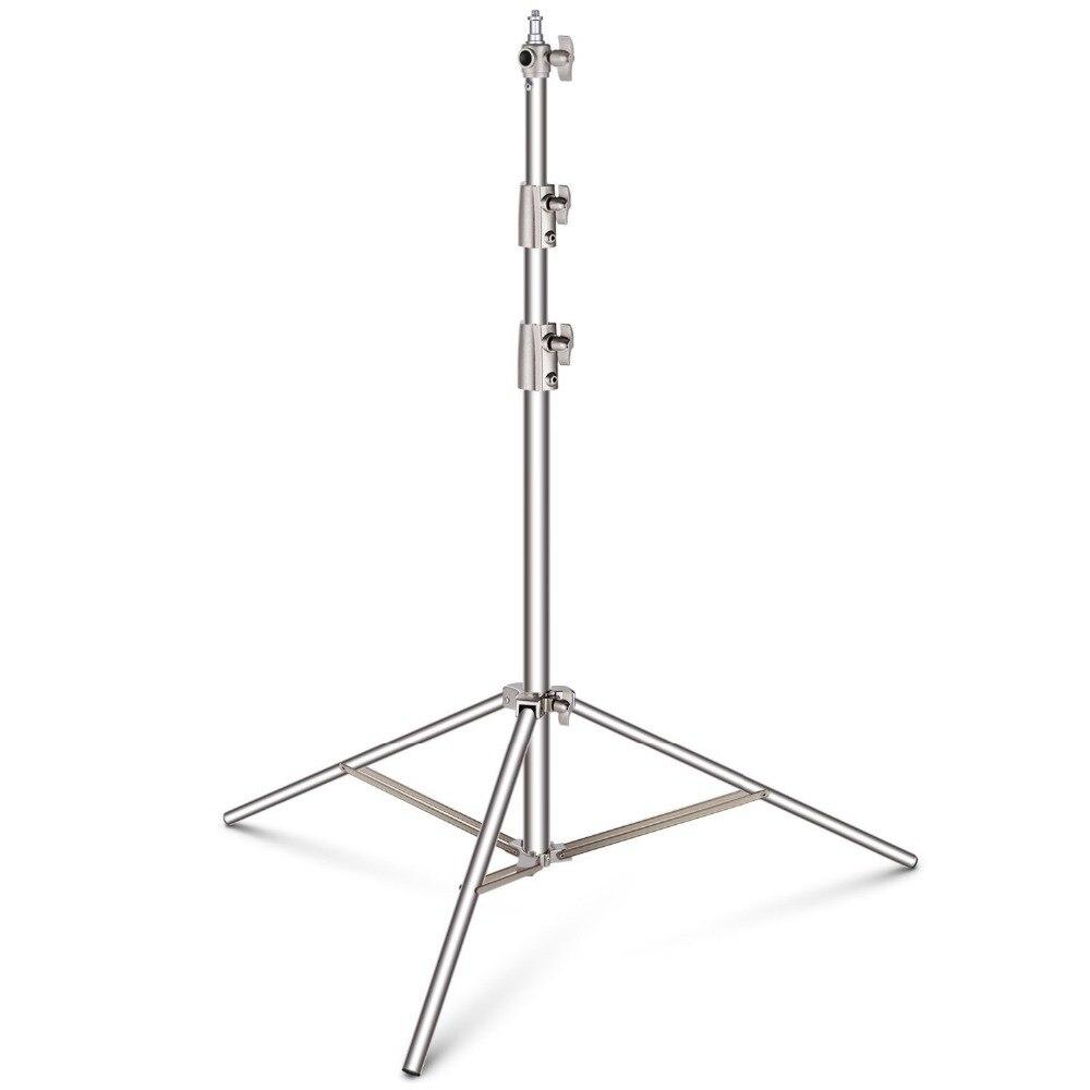 Suporte leve de aço inoxidável de neewer 102 polegadas/260 cm resistente para o estúdio softbox, monolight e outros equipamentos fotográficos