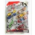 Новое Поступление Пластиковые Велосипед Палец Скейтборд Игрушки для Детей Устанавливает, Забавные Мини-Накладки Игрушки для Детей Подарок