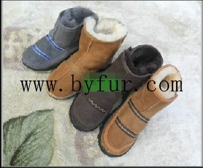 FY-XZ004  Imported Australian sheep fur one child shoes