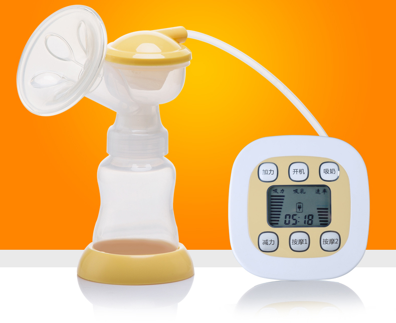 Electric Automatic Sucking Milk Breast Massage Pump Sucker Large Suction Massager Puller Milker Nurse Feeding Bottle Electronic new large suction double bottle electric breast pump breast feeding advanced automatic massage usb electric breast pumps zrx0706