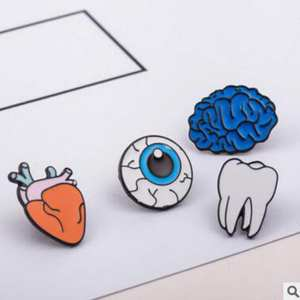 qiaoyue jewelry eyes tooth brooch accessories Pin Badge