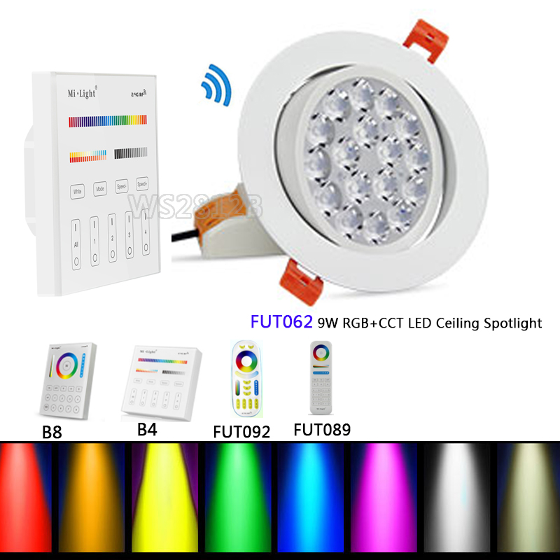 Downlights Milight Fut069 15w Led Ceiling Rgb+cct Round Spotlight Ac100-240v Compatiable With Fut089/fut092 Indoor Led Smart Panel Remote Ceiling Lights & Fans
