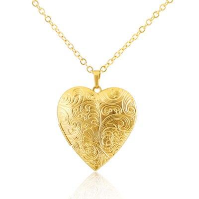 b40478b259673c Sided pattern romantic heart-shaped box pendant 18k gold jewelry pendant  necklace men and women xk-102
