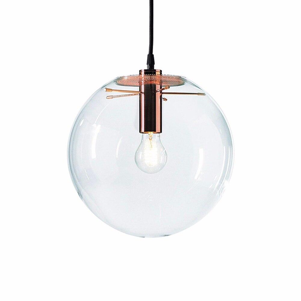 NASN LED rose gold glas Pendelleuchten Glaskugel hängen lampe Lustre Suspension Küche Lichter Leuchte Hause hängen Lichter E27
