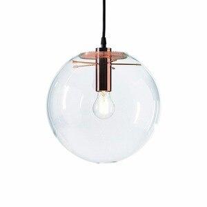 Image 1 - NASN lampe suspendue en verre à la forme dor rose en forme de boule, luminaire dintérieur, idéal pour une cuisine ou une cuisine, E27, LED