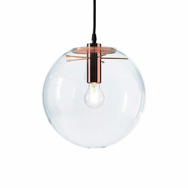 NASN lampe suspendue en verre à la forme dor rose en forme de boule, luminaire dintérieur, idéal pour une cuisine ou une cuisine, E27, LED