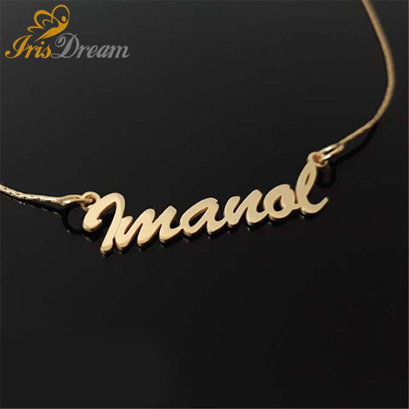 Any Name Font Customize Necklace Women Girl Gold Silver Cross Necklace Choker Pendants Necklaces Special Jewelry Gift Not Change