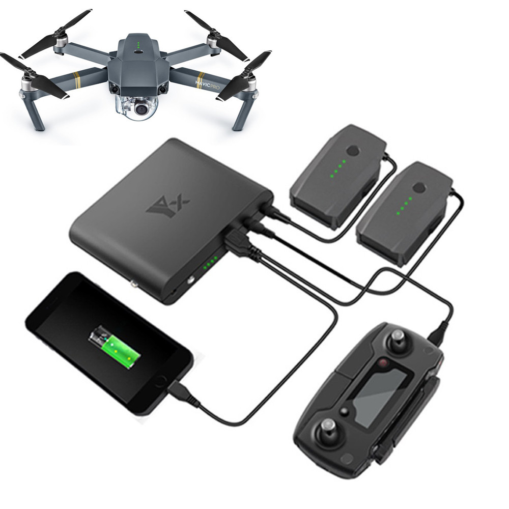 Portable Power Bank Charger Bank Battery Charging Accessories for DJI Mavic Pro Remote Control Accessories Replacement Drop Ship dji phantom 3 battery charging hub power management for phantom3 series charger original accessories