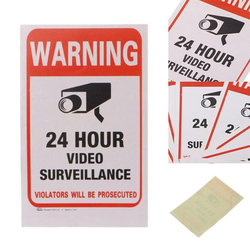 10pcs/lot Waterproof Sunscreen Pvc Home Cctv Video Surveillance Security Camera Alarm Sticker Warning Decal Signs