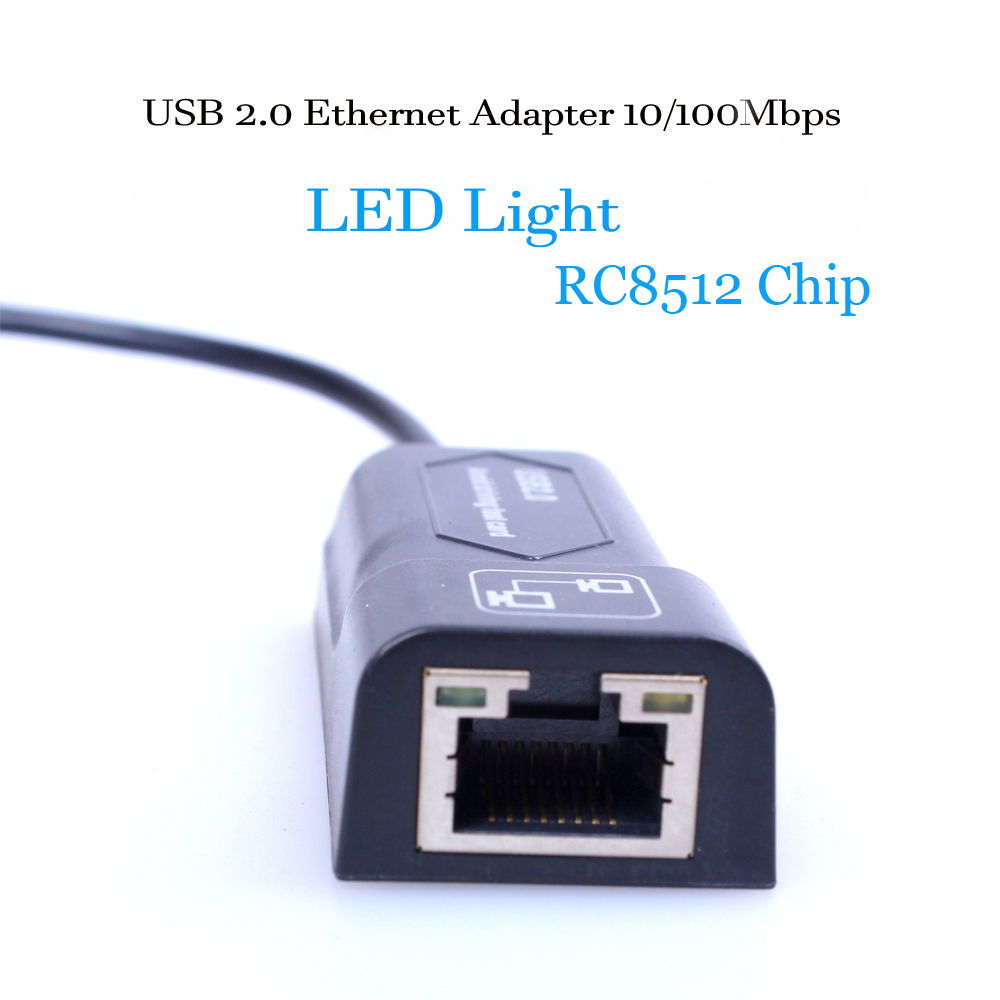 Image 2 - USB Ethernet Adapter Network Card USB Lan Mini Network Adapter USB to RJ45 10/100 Mbps Lan USB RJ45 Card for Mac PC Laptop-in Network Cards from Computer & Office