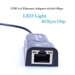 Image 2 - USB Ethernet Adapter Network Card USB Lan Mini Network Adapter USB to RJ45 10/100 Mbps Lan USB RJ45 Card for Mac PC Laptop