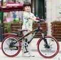 Niños chica niños de la bicicleta bicicleta de montaña