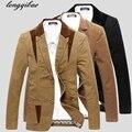 2017 Весной и Осенью новый мужской моды Тонкий шить хлопок пиджак AL749