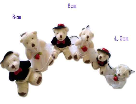 new 100pieces/lot 4-8cm MINI cartoon  joints of bear plush doll toy  furnishing articles Children's gift Wedding supplies