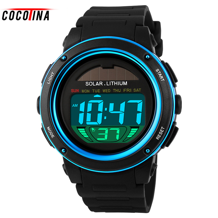 цены COCOTINA Outdoor Sports Watch Waterproof Shockproof Men Mountaineering Electronic Men's Watch Wristwatches Top Quality HL0429