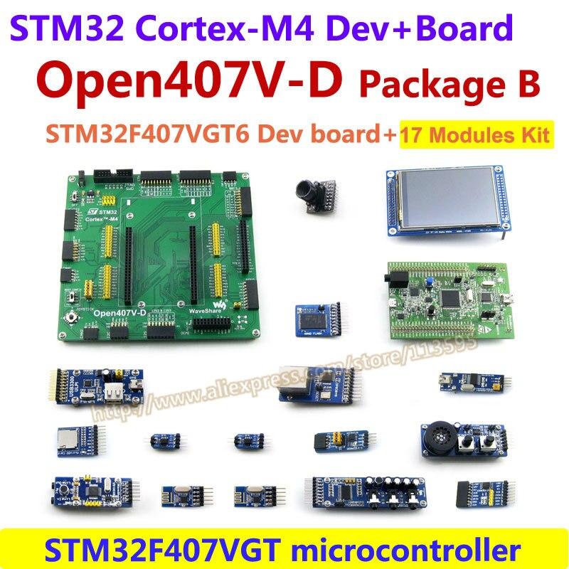 bilder für STM32F4DISCOVERY STM32F407VGT6 STM32F407 STM32 ARM Cortex-m4 Development Board (1 MB Flash) + 17 Module Kit = Open407V-D Paket B