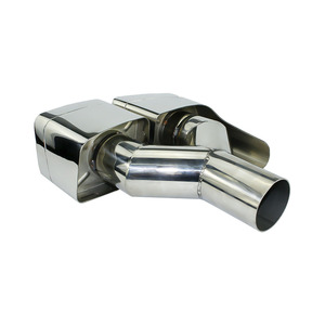 Image 4 - New For Mercedes Benz 2011 2013 ML W166 GL X166 exhaust Muffler Tip 304 Stainless Steel Pipe YC101020
