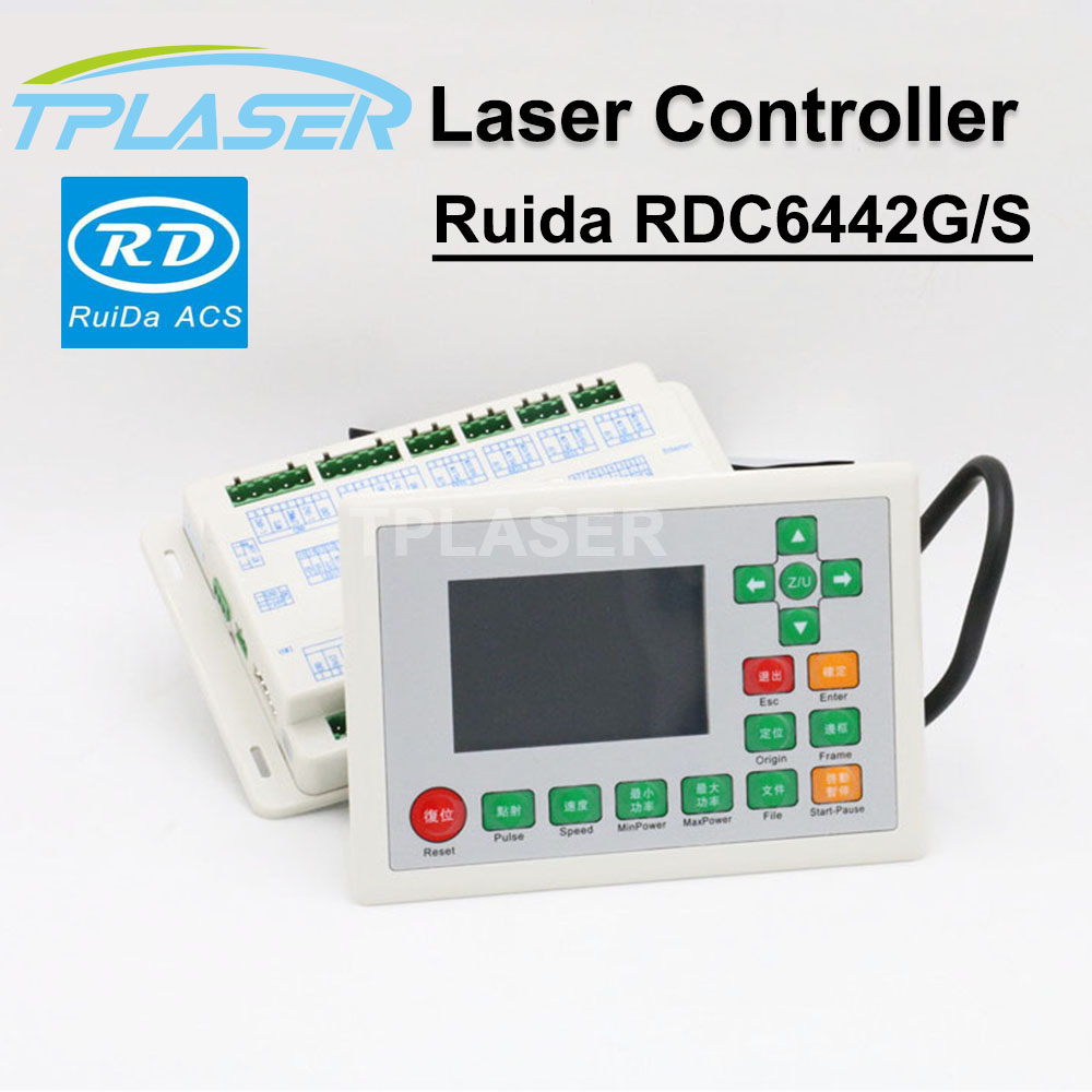 Ruida RDC6442G 6442S Laser Controller for 4-axis DSP Standalone Co2 Laser Engraving Cutting Controller ruida rd rdlc320 a co2 laser dsp controllerr rd320a co2 laser controller use for laser engraving and cutting machine