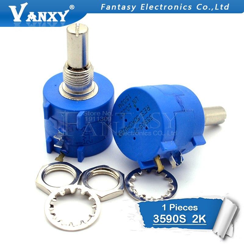 1PCS 3590S-2-202L 3590S 2K Ohm 202 3590S-2-202 3590S-202 Precision Multiturn Potentiometer 10 Ring Adjustable Resistor