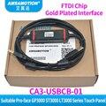 CA3-USBCB-01 adecuado PRO-FACE GP3000 ST3000 LT3000 Cable de programación de comunicación de línea de descarga de Panel táctil