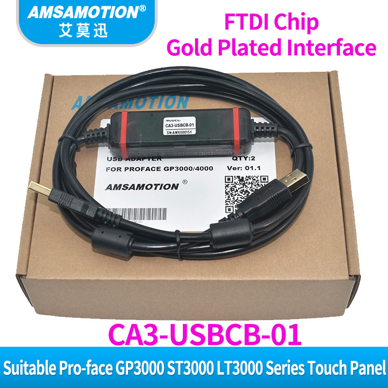 CA3 USBCB 01 adecuado PRO FACE GP3000 ST3000 LT3000 Cable de programación de comunicación de línea de descarga de Panel táctil-in Alambres y cables from Luces e iluminación on AliExpress - 11.11_Double 11_Singles' Day 1