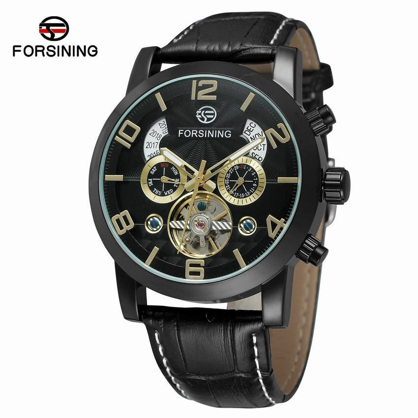 Forsining mans large dial flywheel automatic mechanical watchForsining mans large dial flywheel automatic mechanical watch