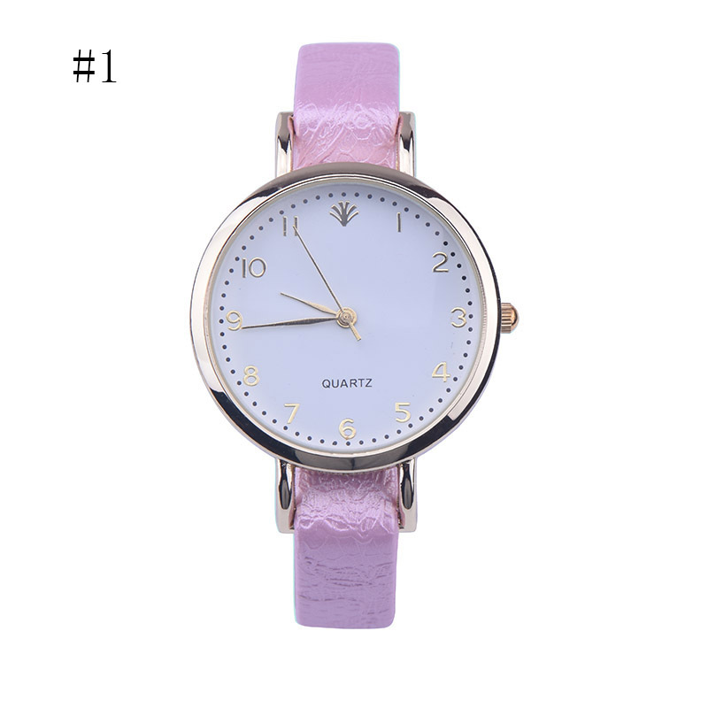 FUNIQUE Fashion Women Watch Leather Watchband Simple Casual Ladies Quartz Wrist Watch Reloj Mujer Numerals Clock Women 2017 oktime minimalist women rhinestone watch analog quartz clock mesh leather simple fashion ladies wrist watch reloj mujer 2017