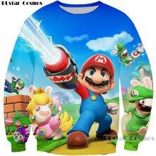 PLstar Cosmos Classic cartoon Hoodies Men/Women Sweatshirt Super Mario Playing 3D Print hoodies mujer/homme funny Pullovers