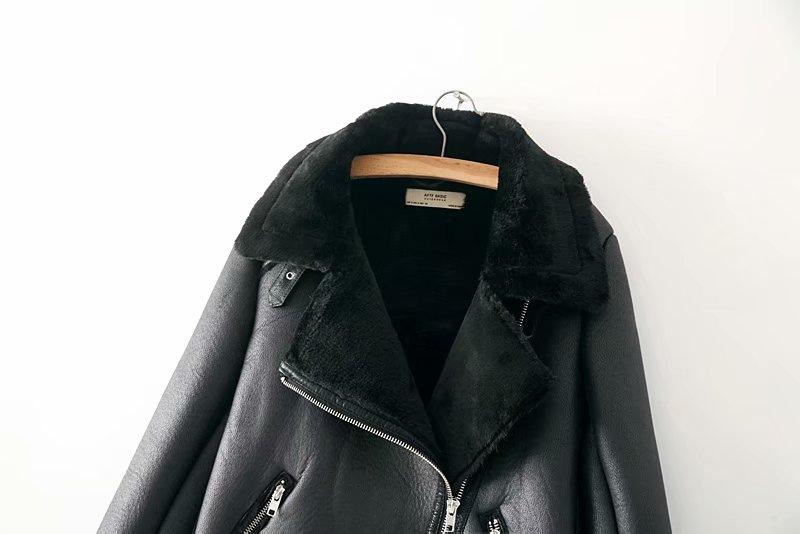 Warm women's winter motorcycle velvet jacket female short 22