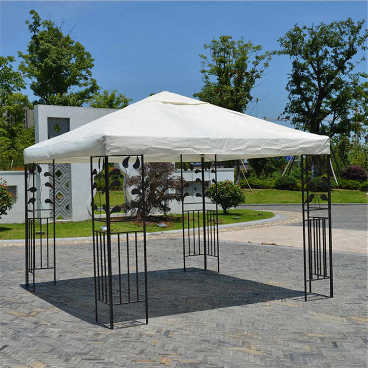 3x3M Canvas Camping Hiking Sun Shelter Outdoor Tent Canopy Top Roof Cover Patio Sun Shade Cloth Shade Shelter Replace Part