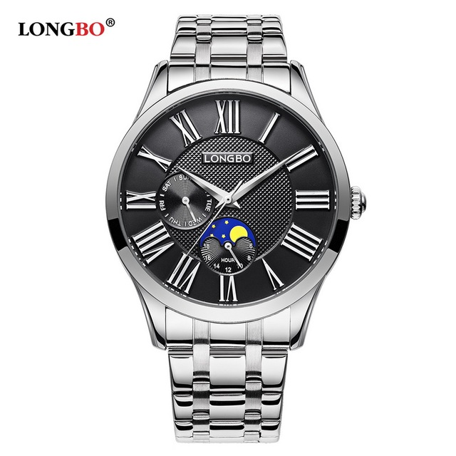 LONGBO Quartz Watch lovers Watches Women Men Couple Analog Watches Stainless Steel Wristwatches Fashion Casual Watches Gold 5013