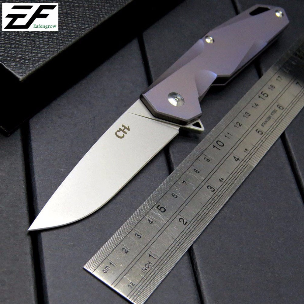 Hot Folding Knives CH 1407 bearing Knife AUS-8 Steel TC4 Titanium Alloy Handle Tactical Survival Hand Tools Camping EDC Knives casio mtp 1291d 7a