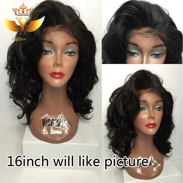 7A Messy Bob Wig Wavy Lace Front Wig Short Bob Glueless Lace Front Human Hair  Wigs For Black Women Full Lace Wig With Baby Hair 101533bef263