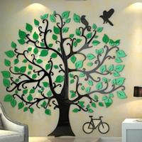 Three dimensional wall stickers Tree Modern Home decor Living room TV wall Acrylic 3d Wall Sticker Christmas decoration Gifts