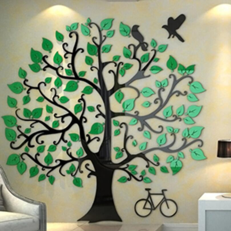 Trojrozměrné nástěnné samolepky Strom Moderní domácí výzdoba Obývací pokoj Televizní stěna Akryl 3d Nástěnná samolepka Vánoční dekorace Dárky