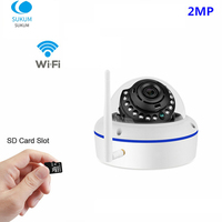 1080P Dome WiFi Home Security Camera 2MP 3.6mm Lens Wireless Surveillance Wi Fi IP Onvif Camera XMEYE APP